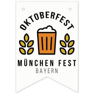 Bandeirinha Fest Baviera de Oktoberfest Beerfest Munchen