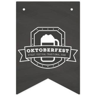Bandeirinha Festival da rua de Oktoberfest no quadro