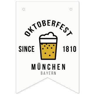 Bandeirinha Festival de Oktoberfest Beerfest desde 1810