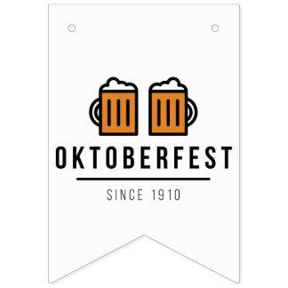 Bandeirinha Festival de Oktoberfest Beerfest desde 1910