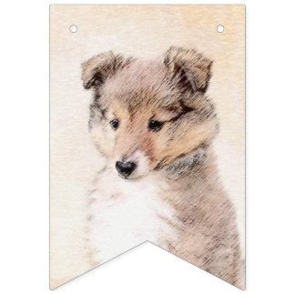 Bandeirinha Filhote de cachorro do Sheepdog de Shetland