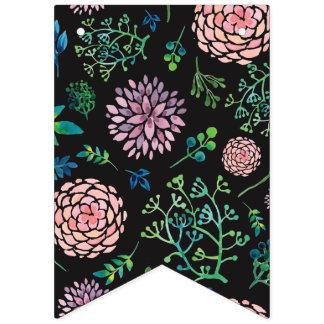 Bandeirinha Flores da aguarela do primavera do chique