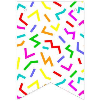 Bandeirinha Linhas coloridas bonitos padrões