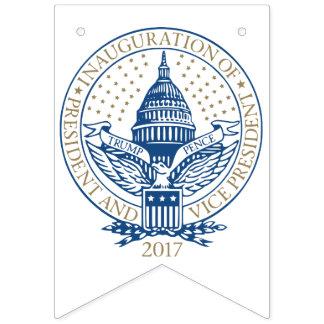 Bandeirinha Moedas de um centavo presidenciais 2017 do trunfo