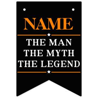 Bandeirinha Nome personalizado o homem o mito a legenda