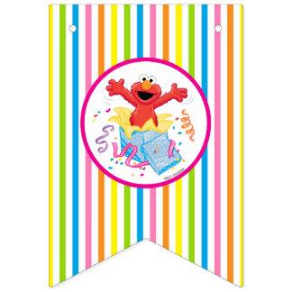 Bandeirinha O aniversário da menina do Sesame Street | Elmo