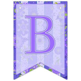 Bandeirinha O elefante do chá de fraldas floresce o roxo