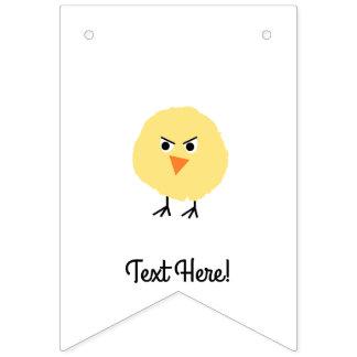 Bandeirinha Pássaro muito virado