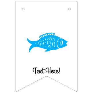 Bandeirinha Peixes azuis