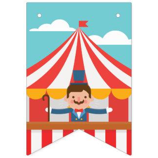 Bandeirinha Ringmaster do circo. O circo está vindo à cidade!