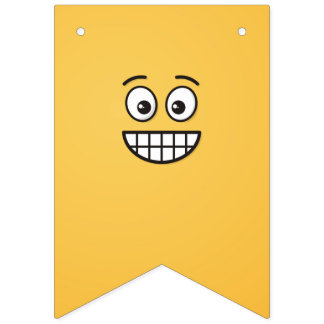 Bandeirinha Sorrindo a cara com olhos abertos