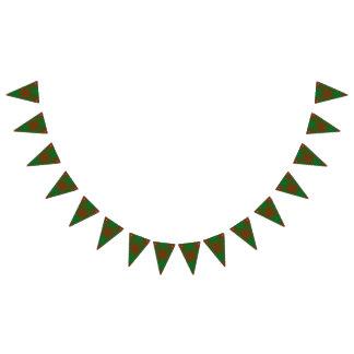Bandeirinha Tartan escocês da caça de Menzies do clã