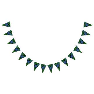 Bandeirinha Tartan escocês de Forsyth do clã