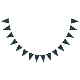 Bandeirinha Tartan escocês de Malcolm do clã