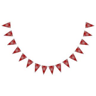 Bandeirinha Tartan vermelho e branco do vestido escocês de