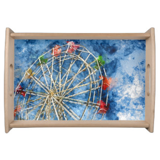 Bandeja A aguarela Ferris roda dentro Santa Cruz