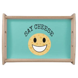 Bandeja a piada bonito engraçada diz o queijo