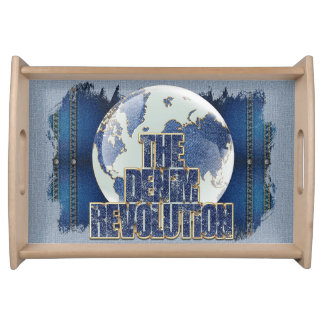 Bandeja A revolução da sarja de Nimes