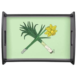 Bandeja Alho-porro e Daffodil cruzados