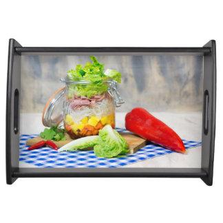 Bandeja Almoço em um vidro