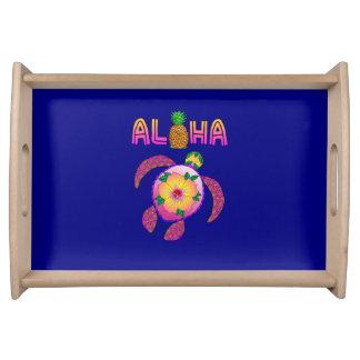 Bandeja Aloha tartaruga havaiana de Honu