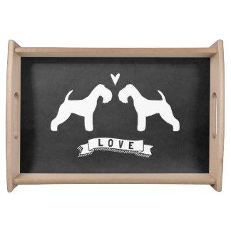 Bandeja Amor das silhuetas de Lakeland Terrier