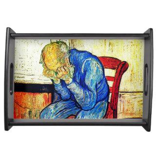 Bandeja Ancião Sorrowing Van Gogh