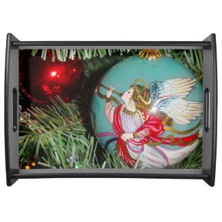 Bandeja Anjo do Natal - arte do Natal - decorações do anjo