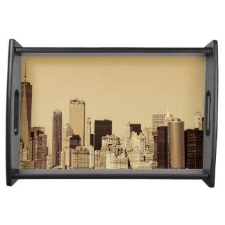 Bandeja Arquitectura da cidade de New York