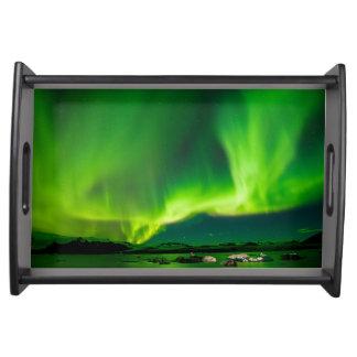 Bandeja Aurora boreal de Islândia