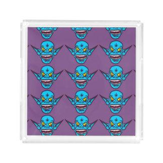 bandeja azul do serviço do demónio do troll do