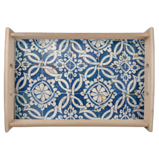 Bandeja Azulejo do português do vintage