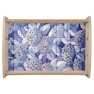 Bandeja Azulejos florais