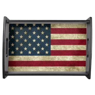 Bandeja Bandeira americana do Grunge