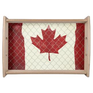 Bandeja Bandeira canadense. Cerca do elo de corrente.