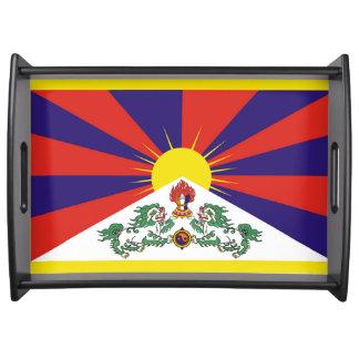 Bandeja Bandeira da bandeira do leão de Tibet ou de neve