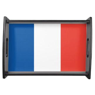 Bandeja Bandeira francesa 14 Juillet patriótico
