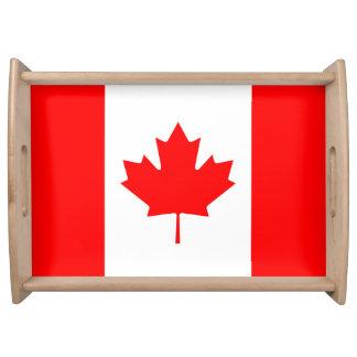 Bandeja Bandeira nacional patriótica de CANADÁ