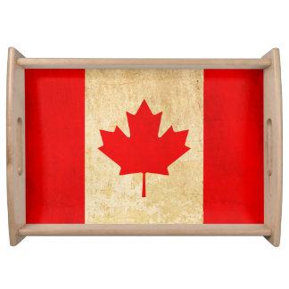 Bandeja Bandeira nacional patriótica do vintage original