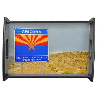 Bandeja Boa vinda ao estado do Grand Canyon de arizona