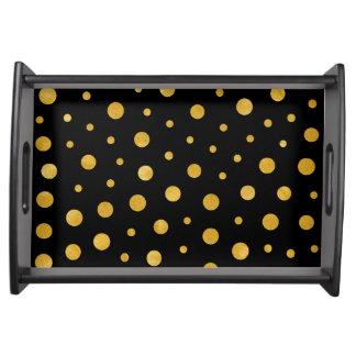 Bandeja Bolinhas elegantes - ouro preto