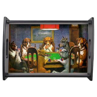 Bandeja Cães que jogam o póquer
