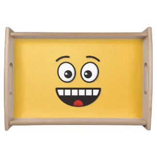 Bandeja Cara de sorriso com boca aberta