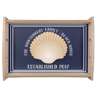 Bandeja Casa de praia litoral da família do Seashell de