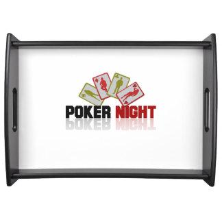 Bandeja Casino do póquer