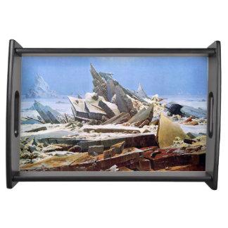 Bandeja CASPAR DAVID FRIEDRICH - o mar do gelo 1824