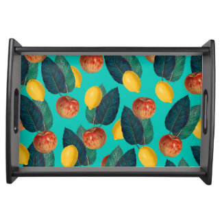 Bandeja cerceta das maçãs e dos limões