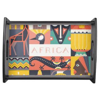 Bandeja Colagem simbólica africana da arte