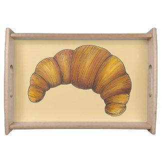Bandeja Comida dourada amanteigada do pão da pastelaria do