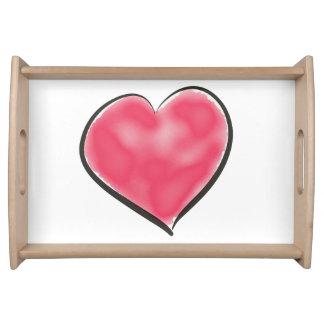 Bandeja Coração vermelho bonito